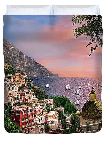 Positano Duvet Cover by Dominic Davison