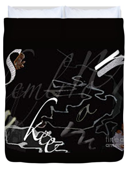 Positive And Negative Space Duvet Cover