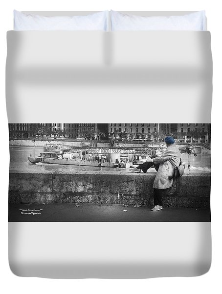 Duvet Cover featuring the photograph Positive Meditation On The River by Stwayne Keubrick