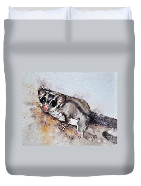 Possum Cute Sugar Glider Duvet Cover by Sandra Phryce-Jones