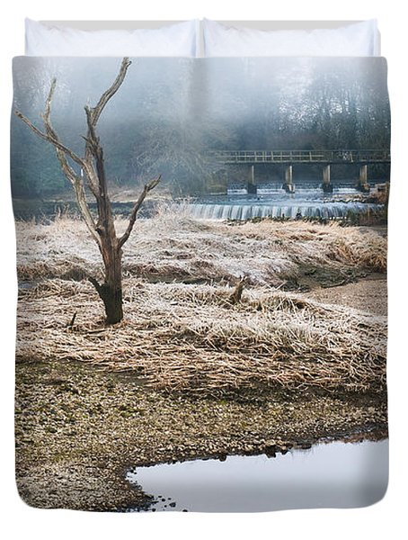 Duvet Cover featuring the photograph Post Apocalyptic Landscape by Trevor Chriss