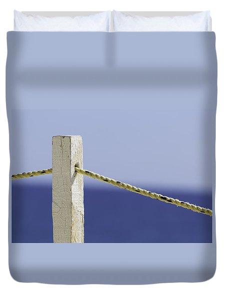 Post On The Beach Duvet Cover