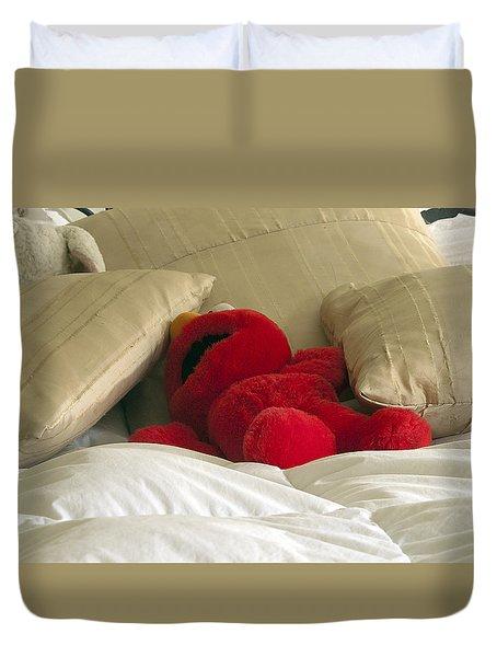 Post Party Elmo Duvet Cover by Joe Schofield