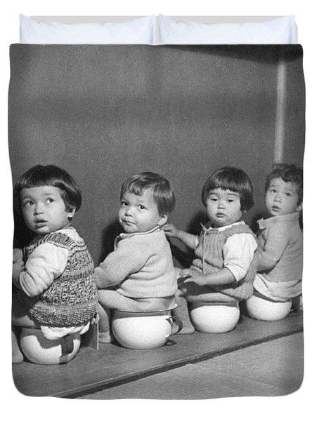 Post-war Japanese Orphanage Duvet Cover