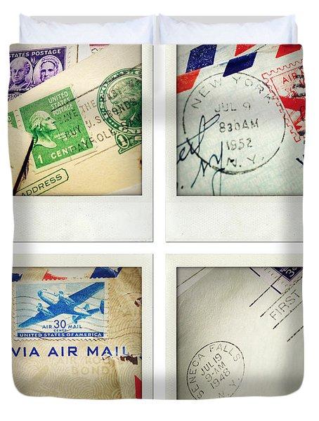 Postal Still Life Duvet Cover by Les Cunliffe
