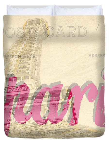 Postcard From Paris Duvet Cover by Edward Fielding