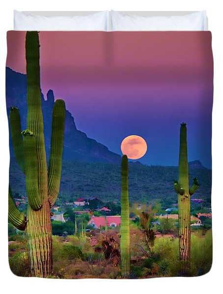 Postcard Perfect Arizona Duvet Cover