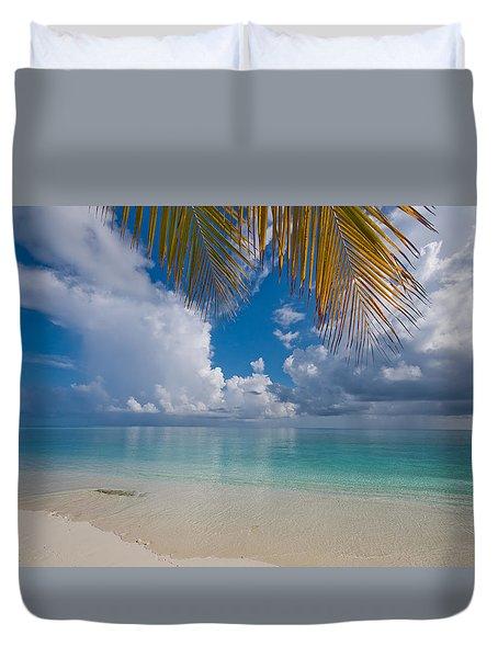 Postcard Perfection. Maldives Duvet Cover by Jenny Rainbow