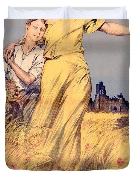 Poster Advertising The National Loan Duvet Cover by Rene Lelong