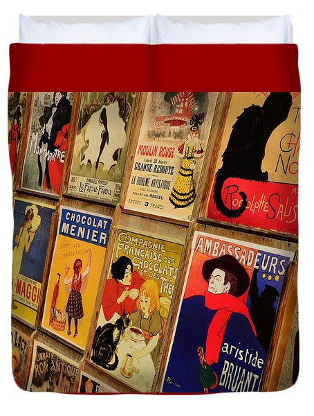 Posters In Paris Duvet Cover by Dany Lison