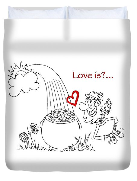 Pot Of Gold Valentines  Duvet Cover