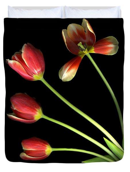 Pot Of Tulips Duvet Cover
