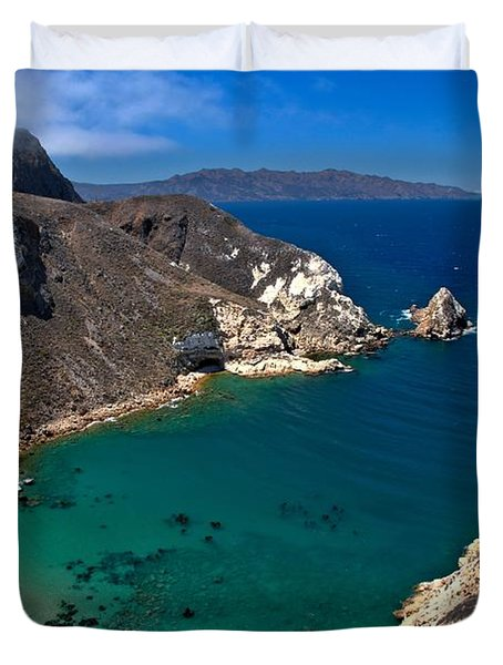 Potato Harbor Views Duvet Cover by Adam Jewell