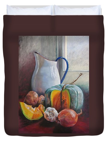 Potential Pumpkin Soup Duvet Cover by Lynda Robinson