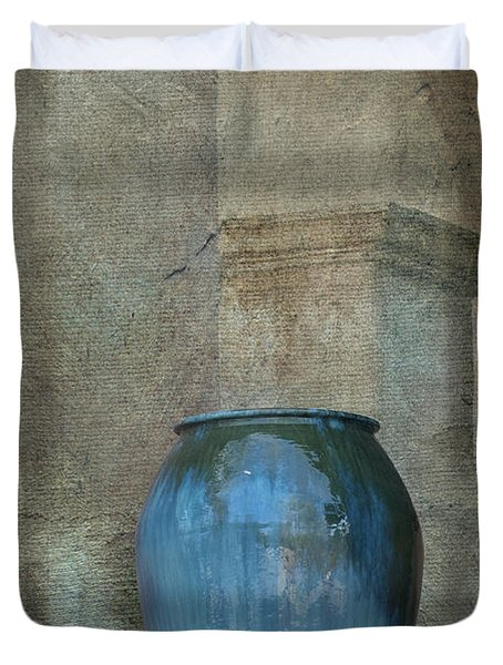 Pottery And Archways II Duvet Cover by Sandra Bronstein