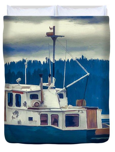 Poulsbo Waterfront 03 Duvet Cover by Wally Hampton