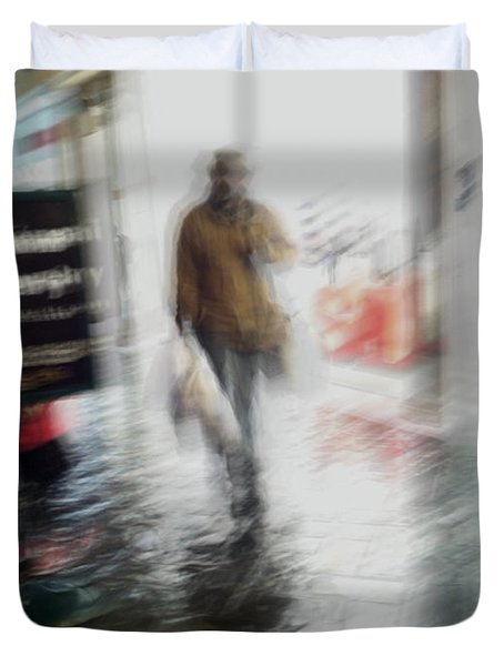 Duvet Cover featuring the photograph Pounding The Pavement by Alex Lapidus