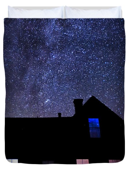Pour In The Light Duvet Cover by Cat Connor