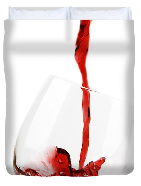 Pouring Red Wine Duvet Cover by Chevy Fleet