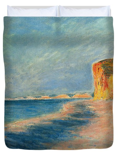 Pourville Near Dieppe Duvet Cover by Claude Monet