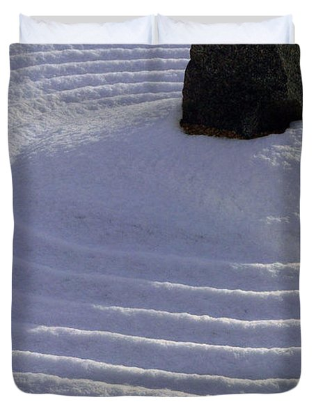 Powder In Zen One Duvet Cover by Feile Case