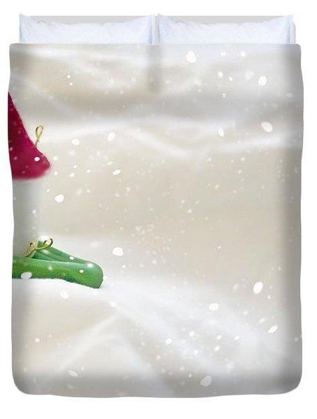 Powdered Sugar Duvet Cover by Heather Applegate
