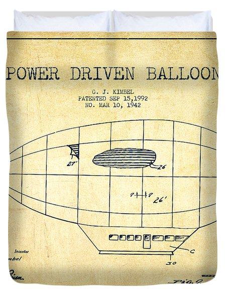 Power Driven Balloon Patent-vintage Duvet Cover