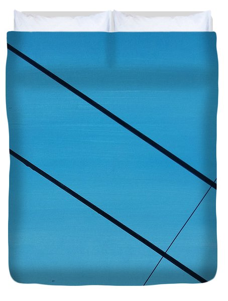 Power Lines 07 Duvet Cover by Ronda Stephens