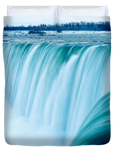 Power Of Niagara Falls Duvet Cover