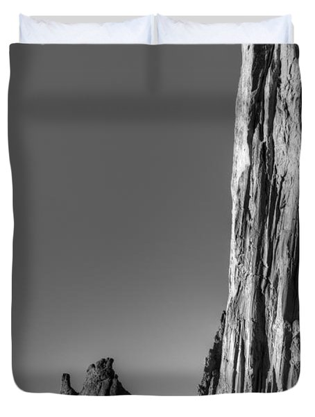 Power Of Stone Duvet Cover by Bob Christopher