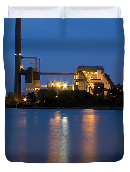 Power Plant Duvet Cover
