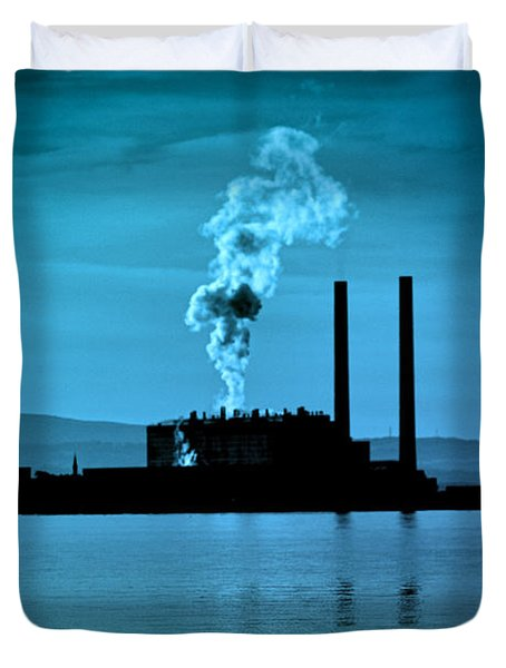 Power Station Silhouette Duvet Cover