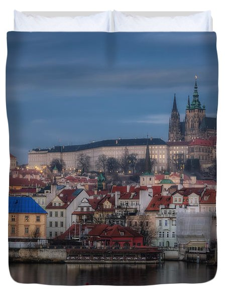 Prague Castle Dawn Duvet Cover