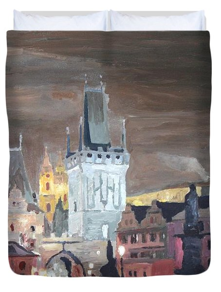 Prague Charles Bridge - Karluv Most Duvet Cover by M Bleichner