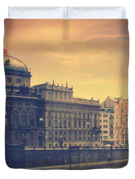 Prague Days Duvet Cover by Taylan Apukovska