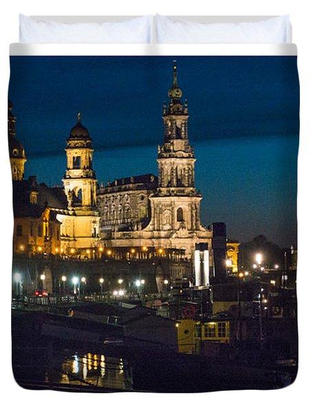 Dresden In Evening Duvet Cover