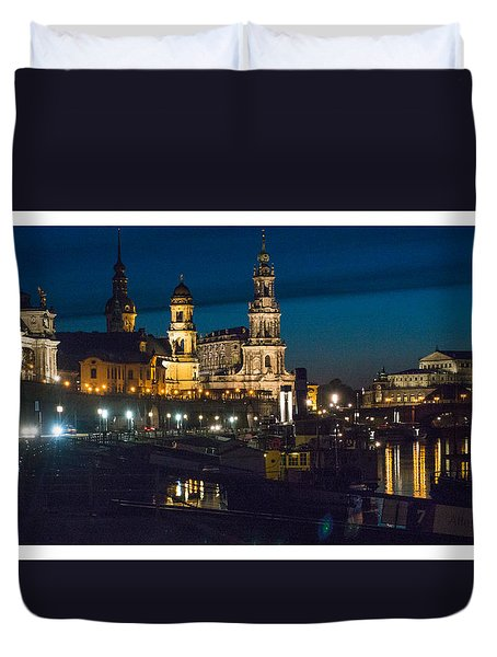 Dresden In Evening Duvet Cover