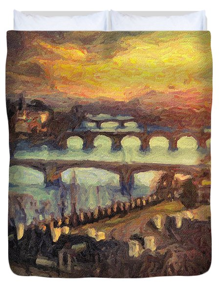 Prague Duvet Cover by Taylan Apukovska