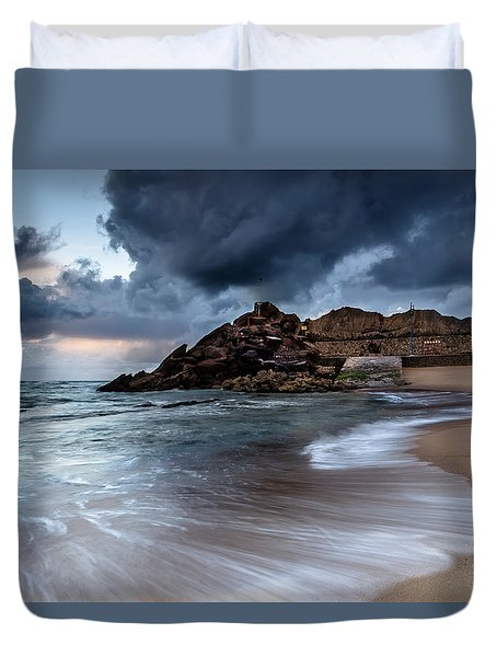Praia Formosa Duvet Cover by Edgar Laureano
