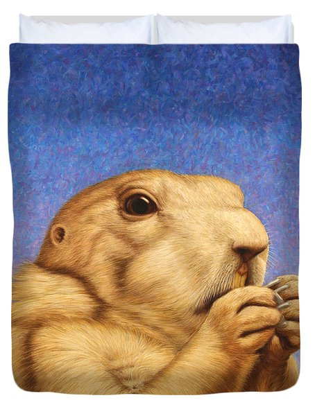 Prairie Dog Duvet Cover by James W Johnson