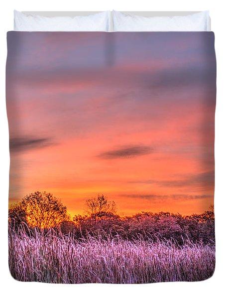 Moraine Hills State Park Moments Before Sunrise Duvet Cover