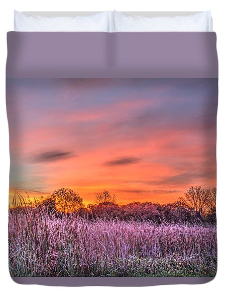 Moraine Hills State Park Moments Before Sunrise Duvet Cover