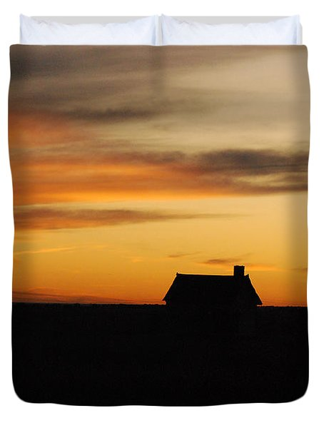 Prairie Sunset Duvet Cover by Mary Carol Story