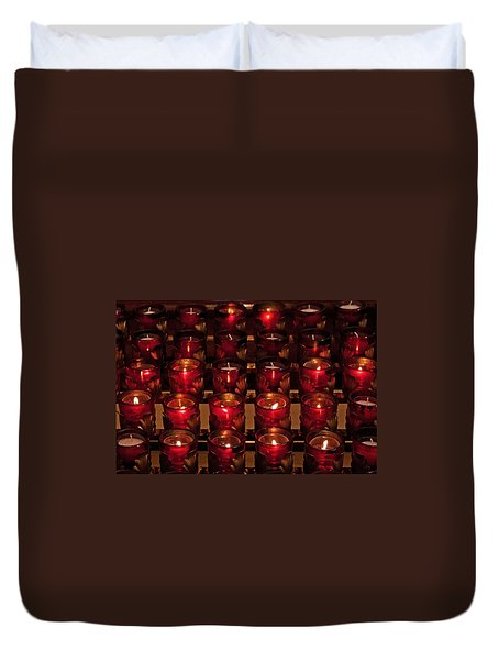 Prayer Candles Duvet Cover