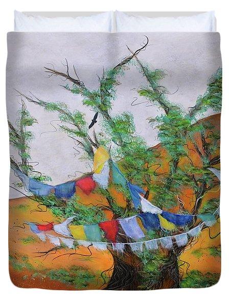 Prayer Flags Duvet Cover by Deborha Kerr