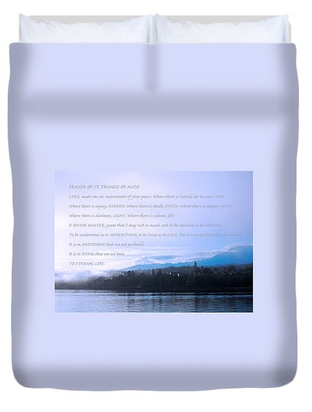 Prayer Of St. Francis Of Assisi Duvet Cover