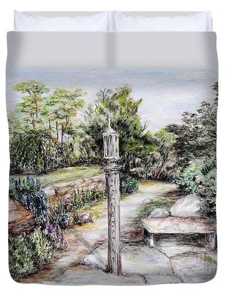 Prayer Wheel Duvet Cover by Danuta Bennett