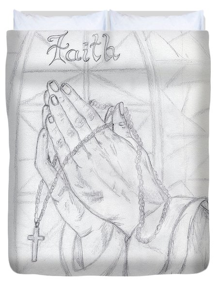 Praying Hands Duvet Cover