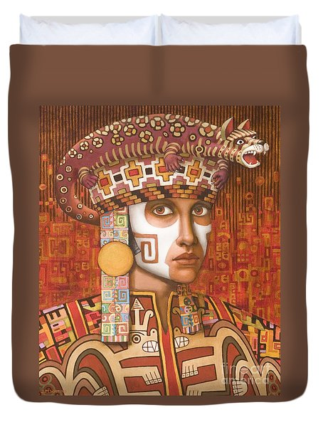 Pre-inca 1 Duvet Cover by Jane Whiting Chrzanoska