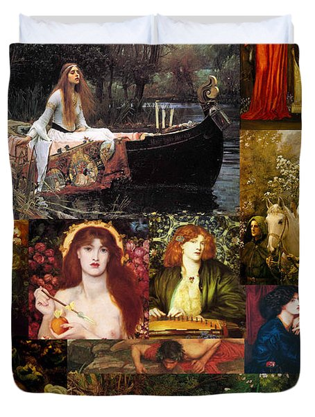 Pre Raphaelite Collage Duvet Cover by Philip Ralley